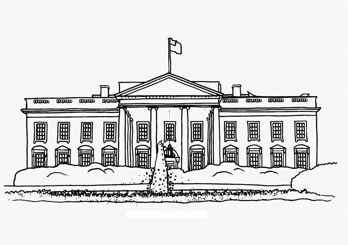 Clipart White House 1