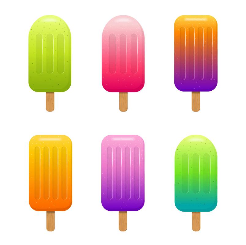Colorful Popsicle Set clipart