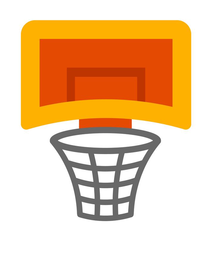 Cute Basketball Hoop clipart