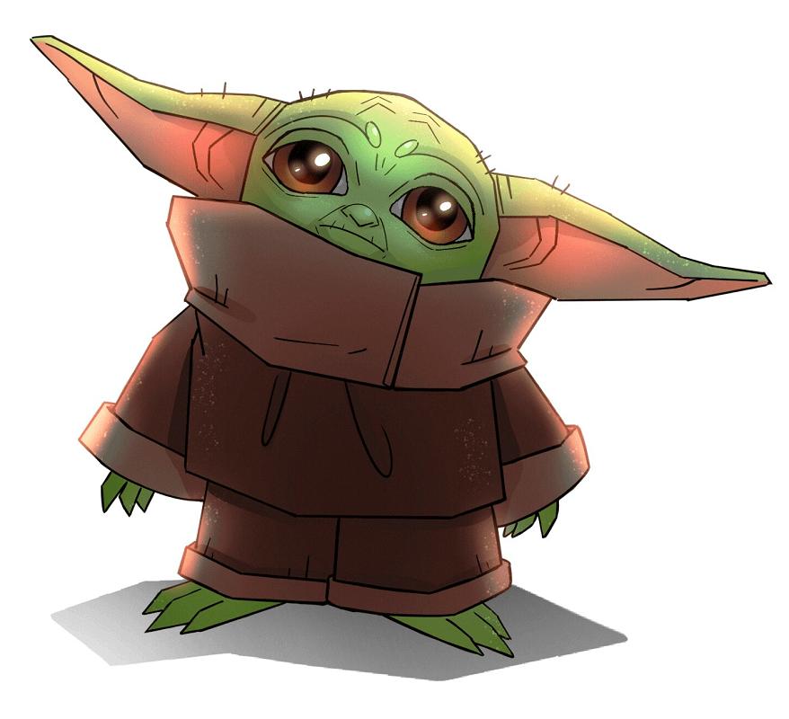 Cute Yoda clipart 1