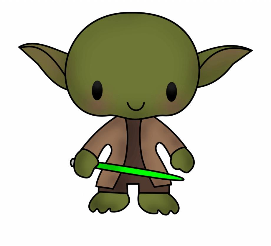 Cute Yoda clipart 2