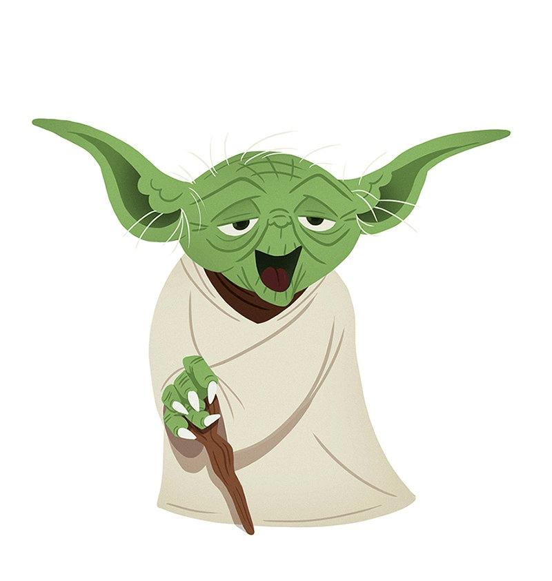 Cute Yoda clipart 4