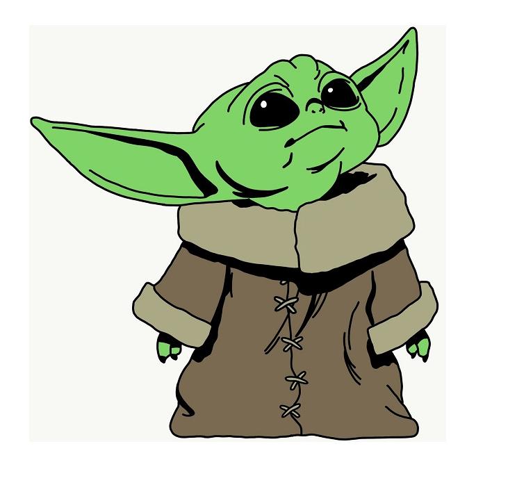 Cute Yoda clipart png