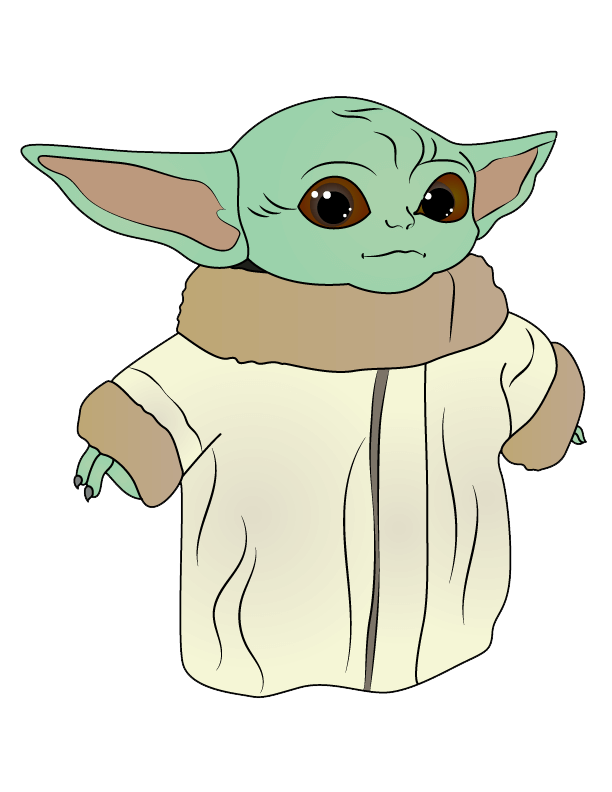 Cute Yoda clipart transparent 1