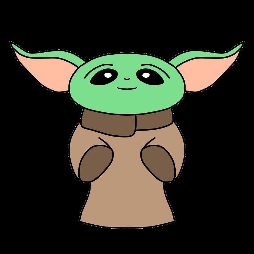 Cute Yoda clipart transparent 2