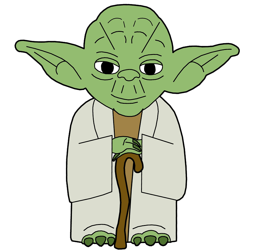 Cute Yoda clipart transparent