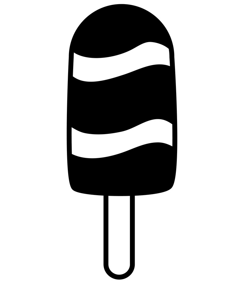 Free Popsicle Clipart Black and White