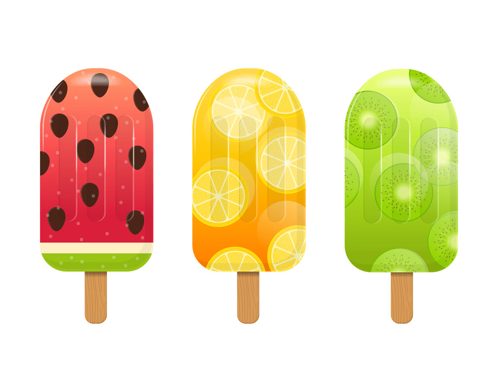 Fruits Popsicle clipart