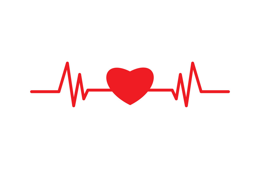 Heart with Heartbeat clipart 1