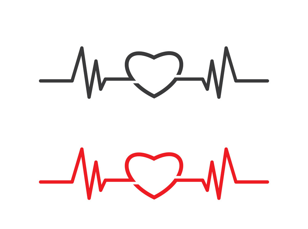 Heart with Heartbeat clipart 2