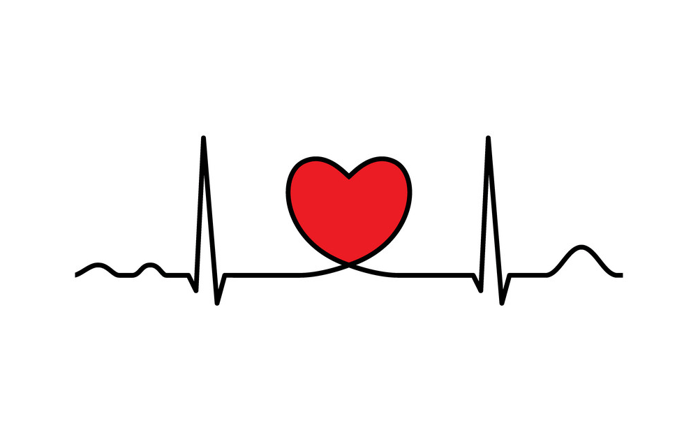Heart with Heartbeat clipart 4