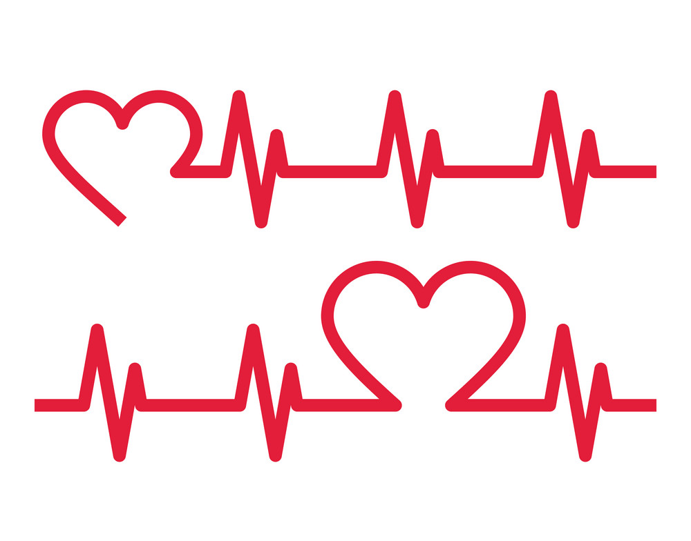 Heart with Heartbeat clipart 6