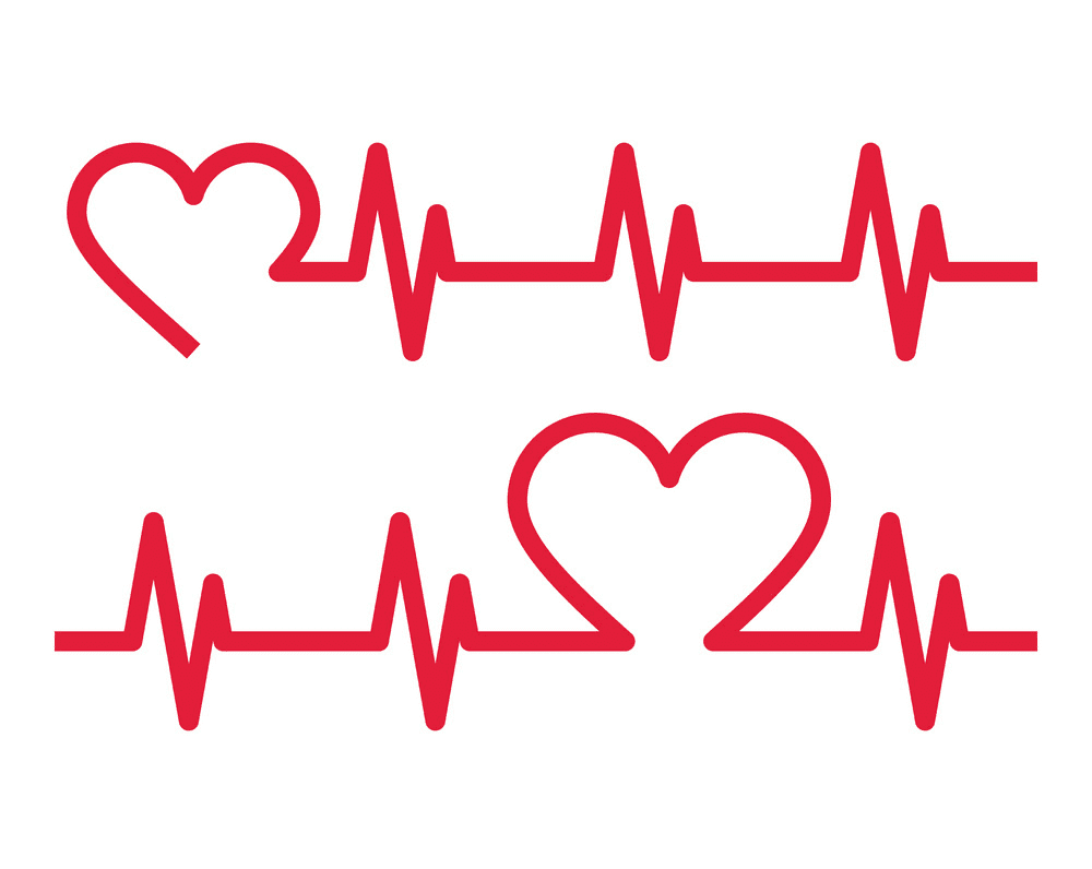 Heart with Heartbeat clipart 9