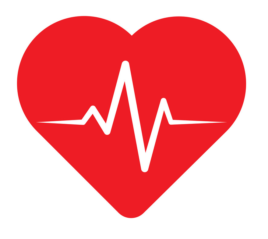 Heart with Heartbeat clipart