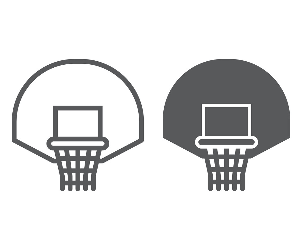 Icon Basketball Hoop clipart free
