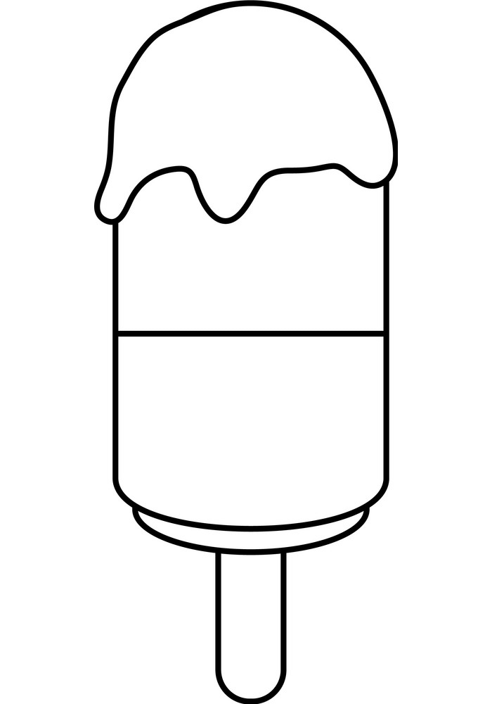 Popsicle Clipart Black and White 4