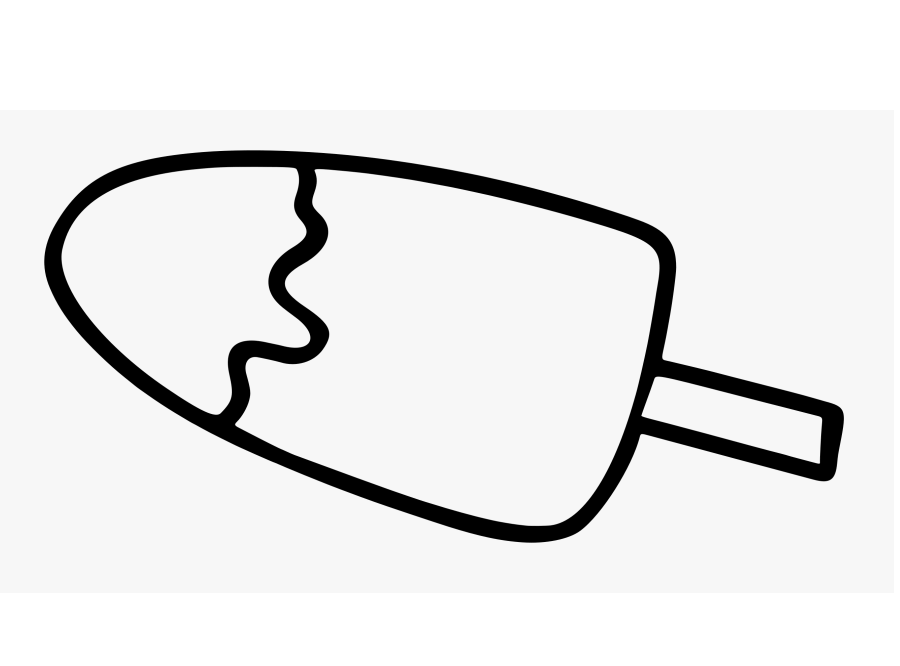 Popsicle Clipart Black and White 5