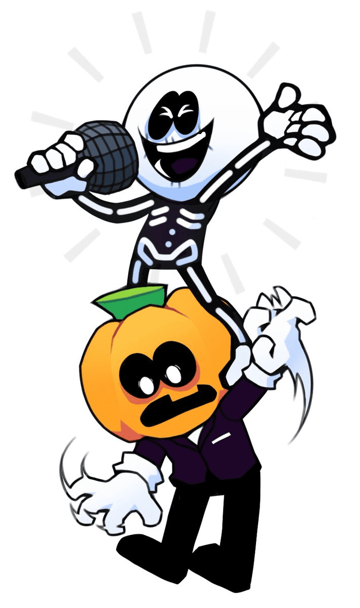 Skid and Pump Friday Night Funkin clipart 1