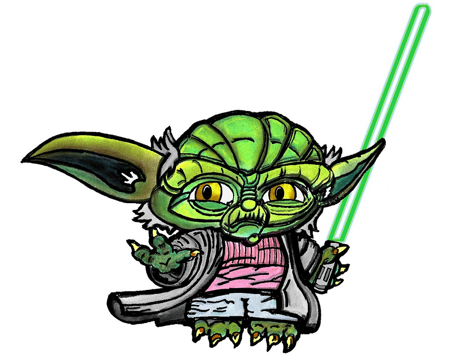 Star Wars Yoda clipart 1