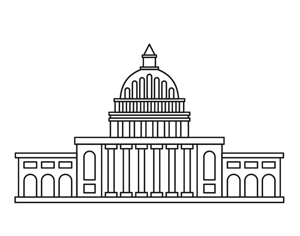 White House Outline clipart
