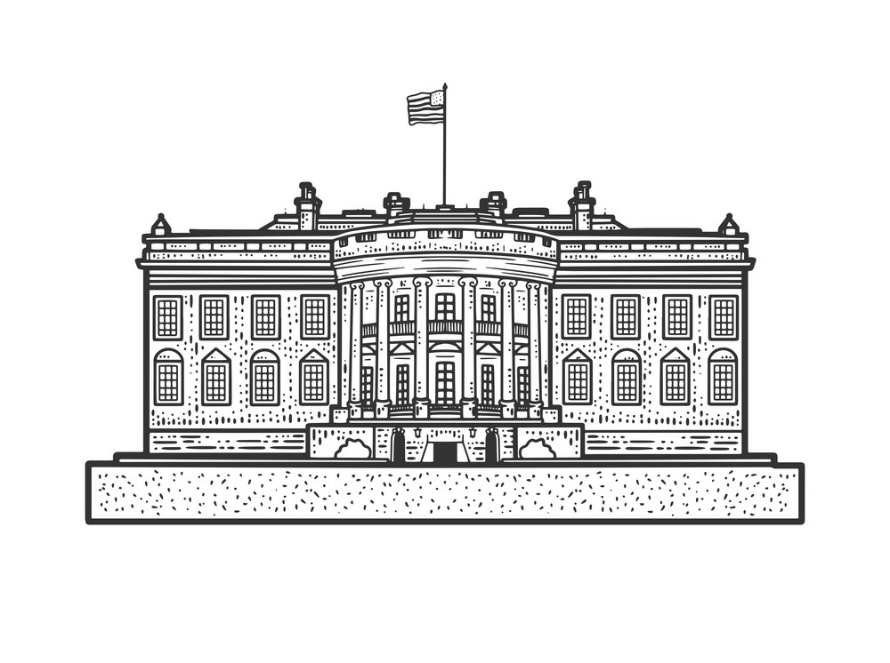 White House Sketch clipart