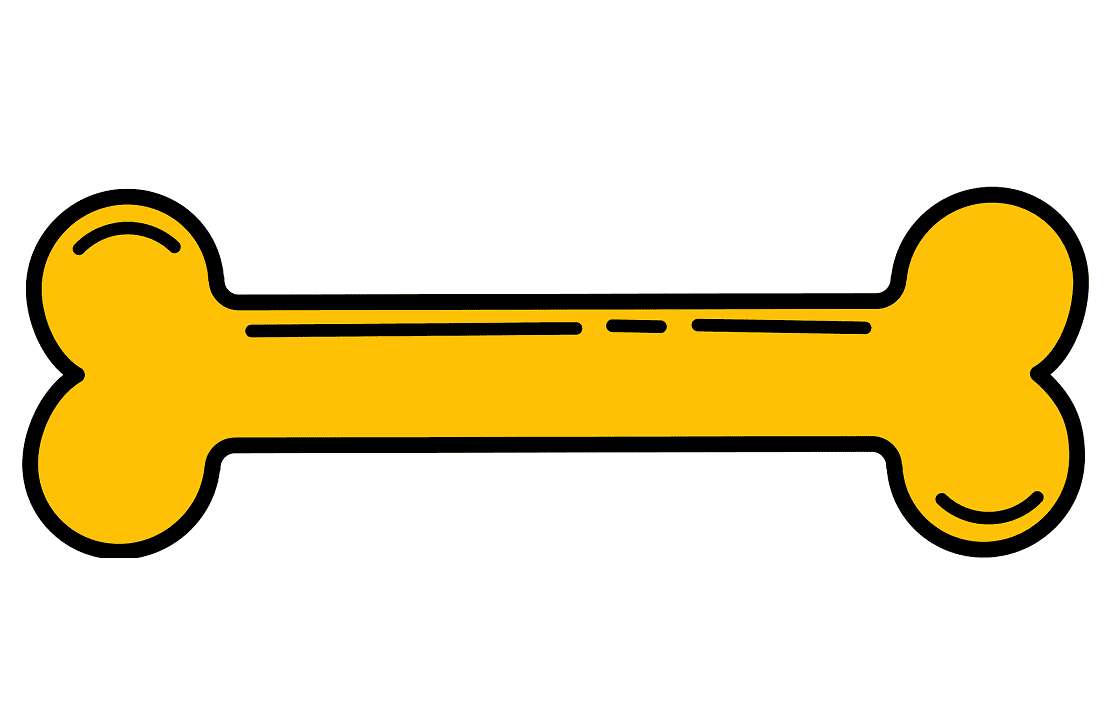 Yellow Dog Bone clipart
