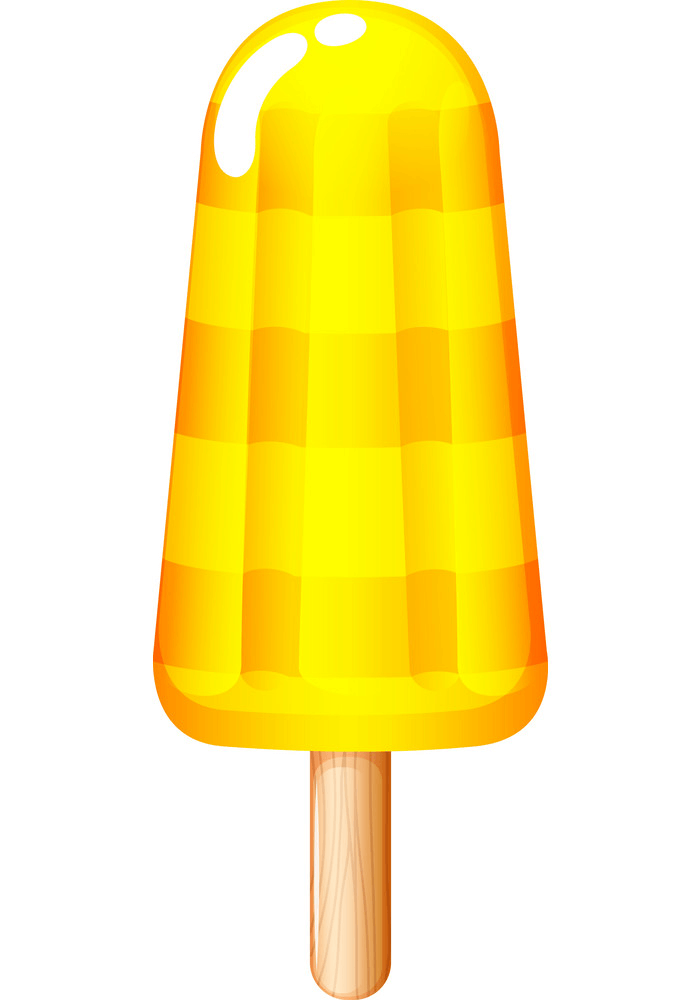 Yellow Popsicle clipart