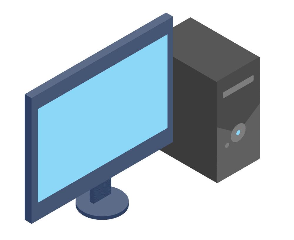 3D Icon Computer clipart