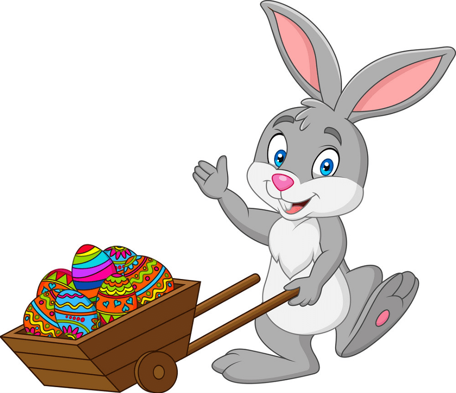 Adorable Easter Bunny clipart