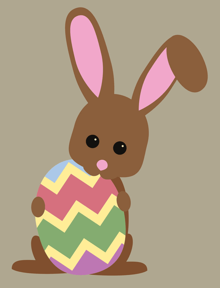 Adorable Easter Rabbit clipart