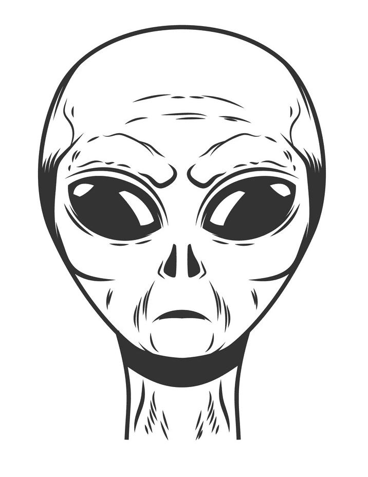 Alien Head clipart 1