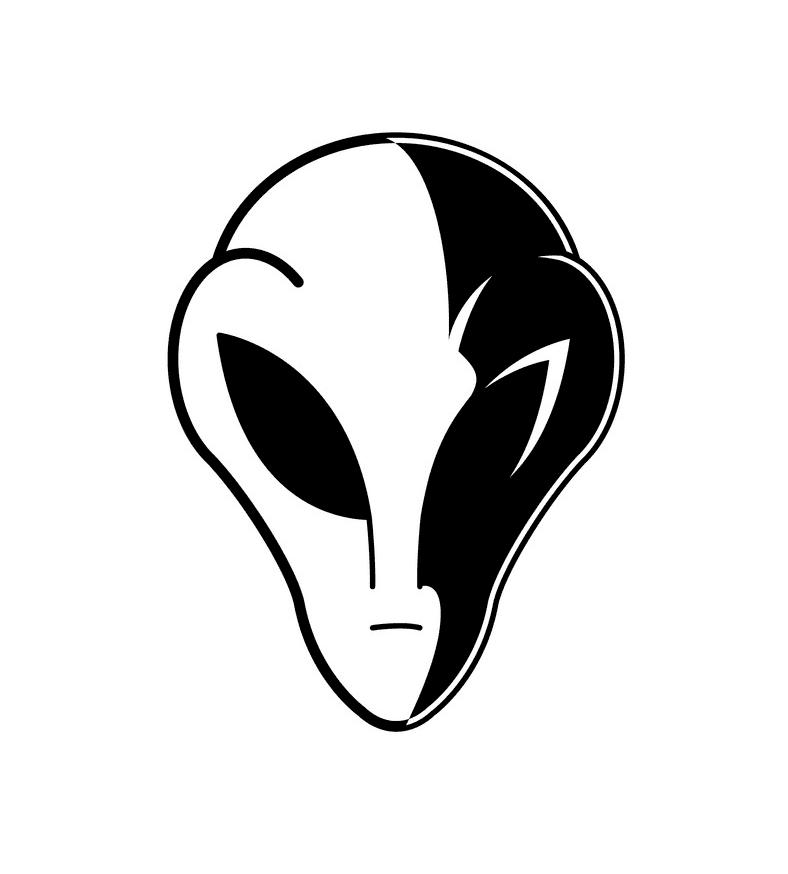 Alien Head clipart 3