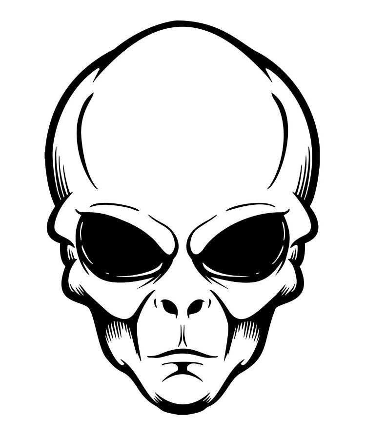 Alien Head clipart free