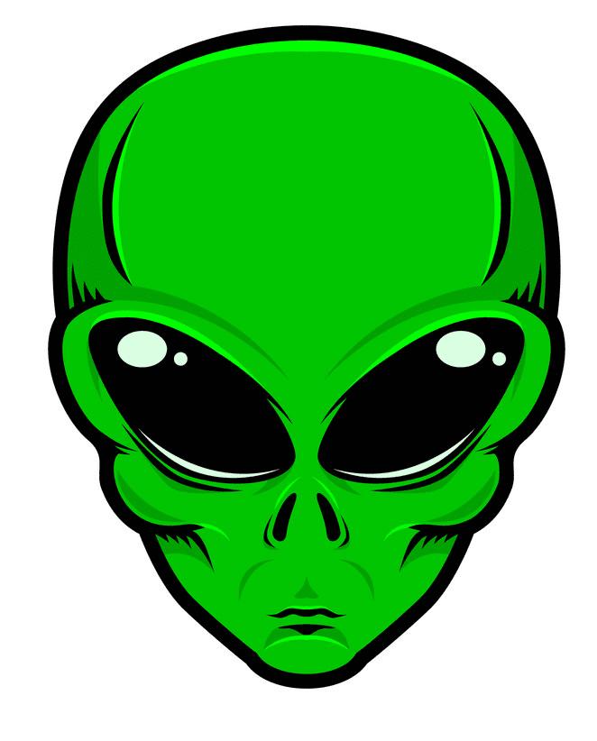 Alien Head clipart png