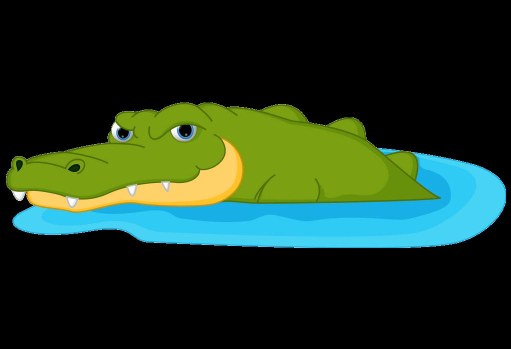 Alligator In Water clipart transparent