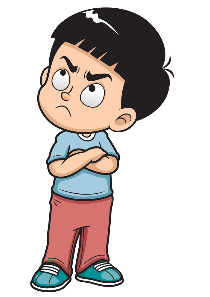 Angry Little Boy clipart