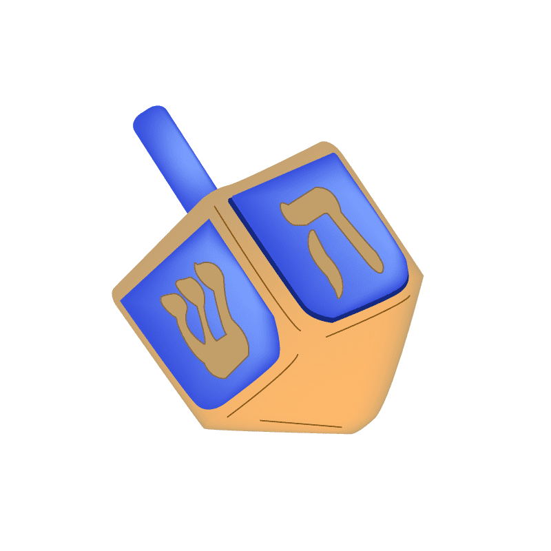 Animated Dreidel clipart free