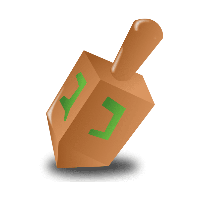 Animated Dreidel clipart