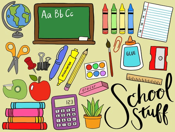 Back to School Supplies clipart 2