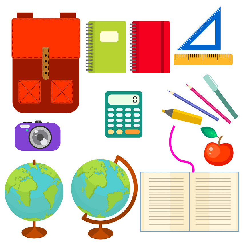 Back to School Supplies clipart 4