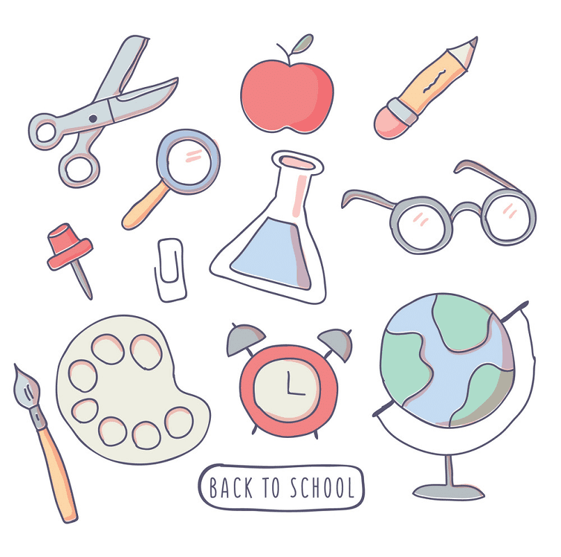 Back to School Supplies clipart free
