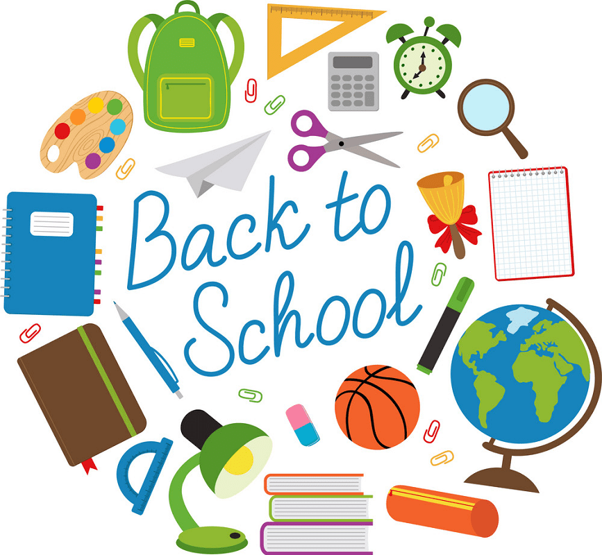 Back to School Supplies clipart png
