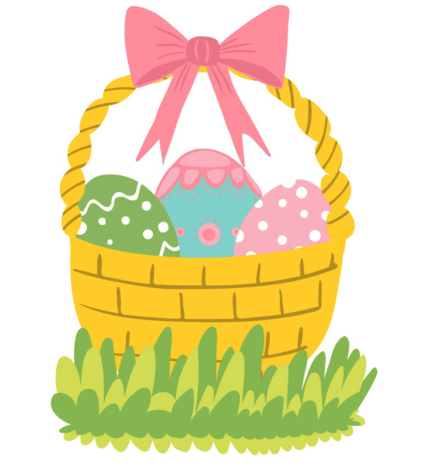 Beautiful Easter Basket clipart
