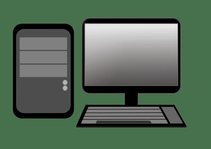 Black Computer clipart transparent