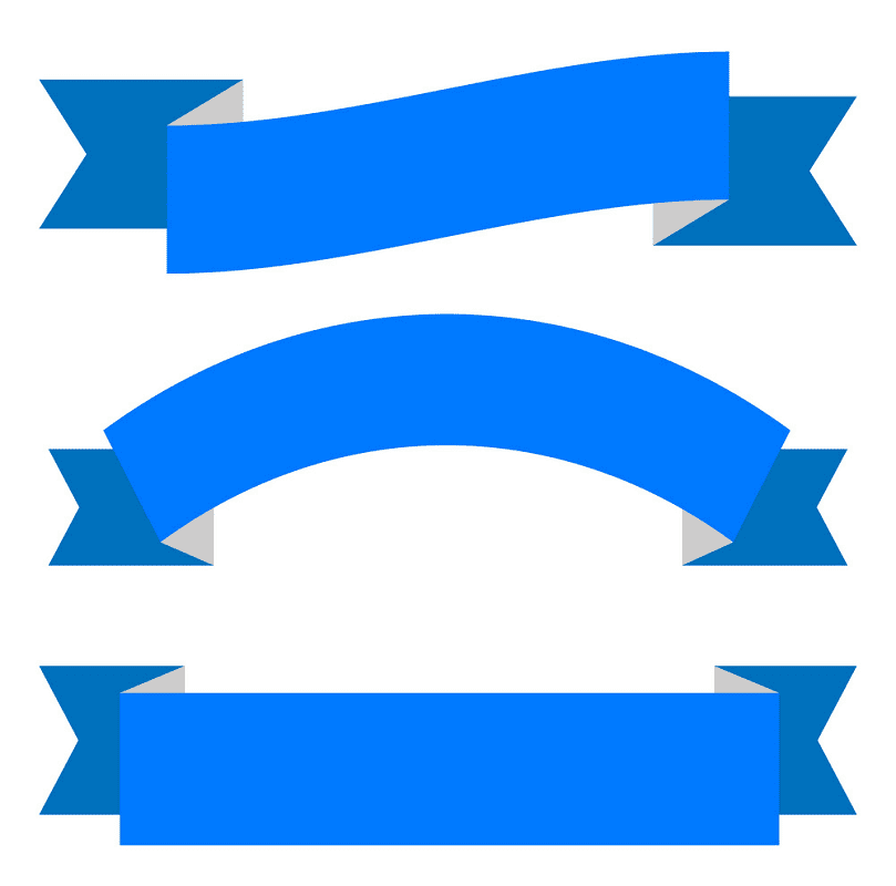 Blue Banners clipart
