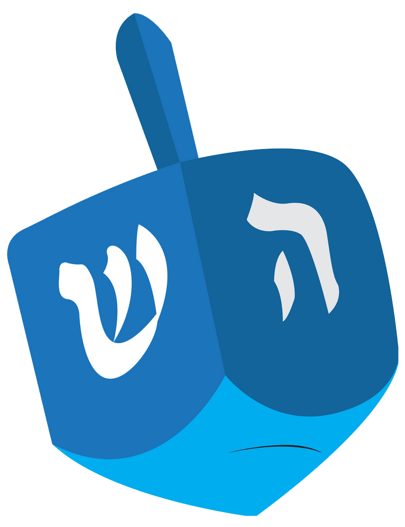 Blue Dreidel clipart transparent