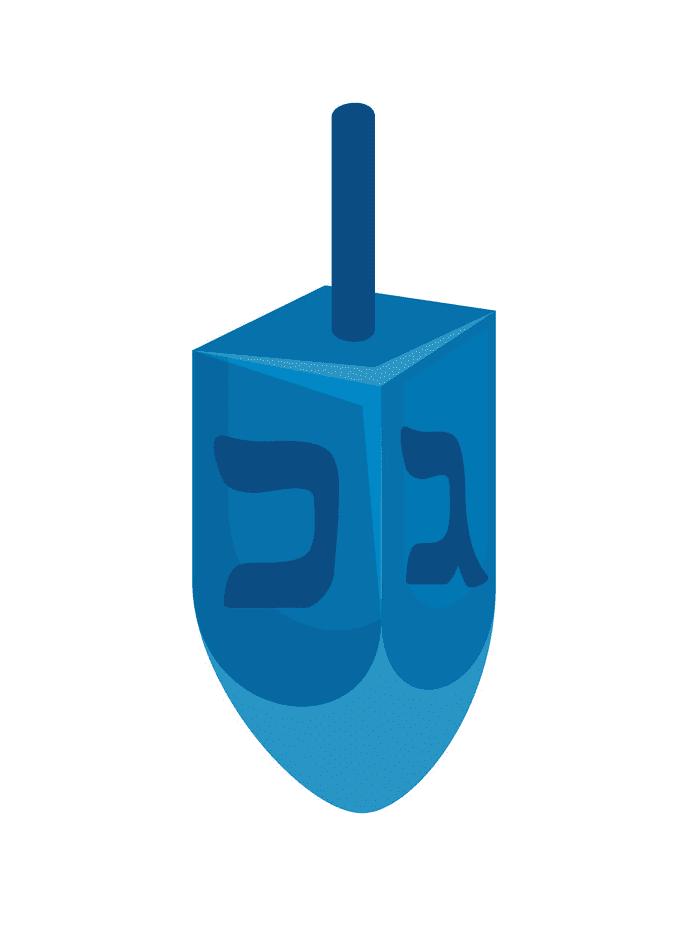 Blue Dreidel clipart