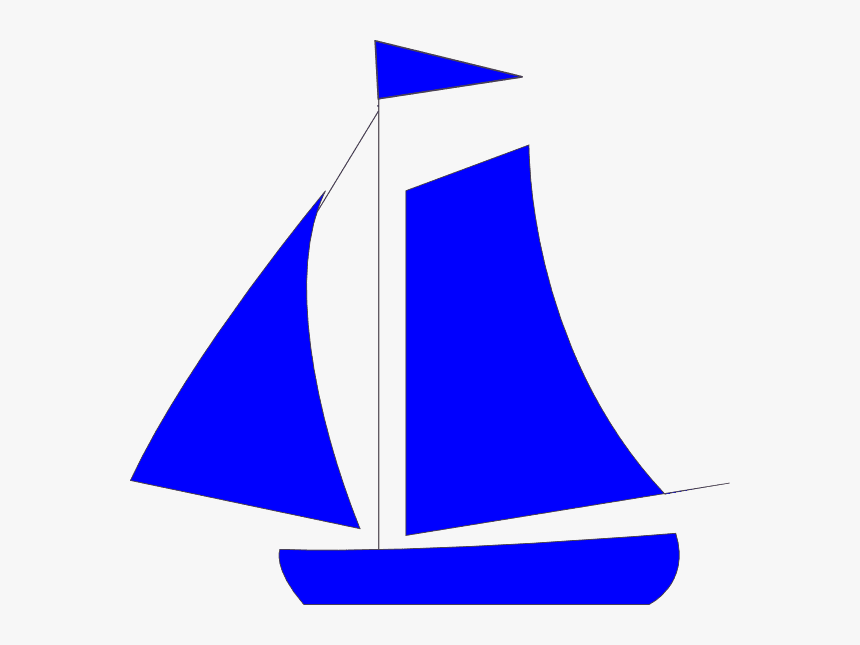 Blue Sailboat clipart free