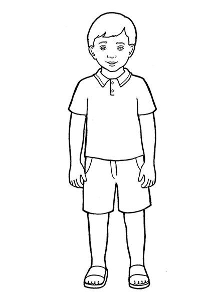 Boy Clipart Black and White 7