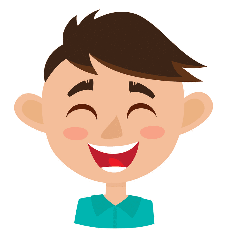 Boy Happy Face clipart